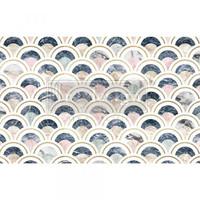 Decoupage-arkki - 48x76 cm - Marbled Scales Re-Design Prima Tissue Paper