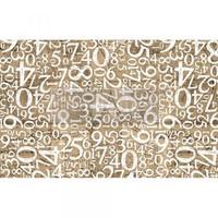 Decoupage-arkki - 48x76 cm - Engraved Numbers Re-Design Prima Tissue Paper