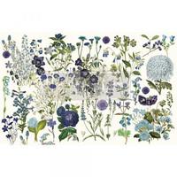 Decoupage-arkki - 48x76 cm - Blue Meadows Re-Design Prima Tissue Paper