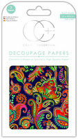 Decoupage-arkki - Indian Paisley - Craft Consortium