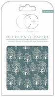 Decoupage-arkki - Silver Trees - Craft Consortium