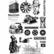 Siirtokuva-arkit 2 kpl - 15 x 21 cm - Steampunk