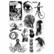 Siirtokuva-arkit 2 kpl - 15 x 21 cm - Curiosities