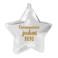 Tähtikoriste - Ensimmäinen jouluni 2020 - 8 cm - Kirkas