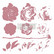 Leimasin - 30 x 30 cm - Prima Re-design Decor Stamp - Mystic Rose