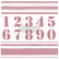 Leimasin - 30 x 30 cm - Prima Re-design Decor Stamp - Stripes