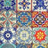 Decoupage-arkkisetti - Colorful Tiles - Belles and Whistles