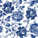 Decoupage-arkkisetti - Blue Sketched Flowers - Belles and Whistles