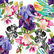 Decoupage-arkkisetti - Colorful Floral with Black and White - Belles and Whistles