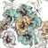 Decoupage-arkkisetti - Blue and Yellow Floral - Belles and Whistles
