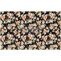 Decoupage-arkki - 48x76 cm - Midnight Amber - Prima Redesign Tissue Paper