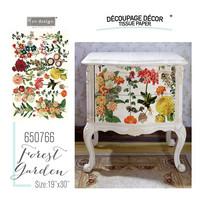 Decoupage-arkki - 48x76 cm - Forest Garden - Prima Redesign Tissue Paper
