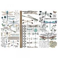 Siirtokuva - 45x30 cm - Spring Dragonfly - Prima Redesign Decor Transfer