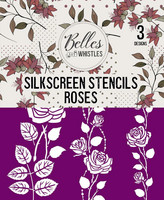 Sabluunasetti  20 x 22 cm - Roses Silkscreen Stencil