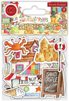Vanerikoristeet - Sandy Paws Wood Shapes