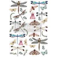 Siirtokuva - 60 x 88 cm - Riverbed Dragonflies - Prima Redesign Decor Transfer