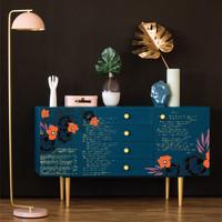 Siirtokuva - 60 x 88 cm - CeCe Fleur Noir - Prima Redesign Decor Transfer