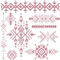Leimasinsetti - 30x30 cm - Prima Re-design Decor Stamp - Tribal Prints