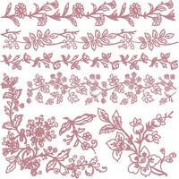Leimasinsetti - 30x30 cm - Prima Re-design Decor Stamp - Bold Branches