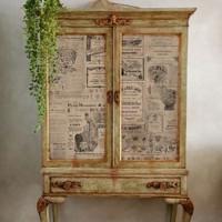 Decoupage-arkki - 48x76 cm - Newsprint Re-Design Prima Tissue Paper
