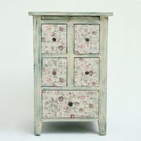 Decoupage-arkki - 48x76 cm -Neutral Florals Prima Redesign Tissue Paper