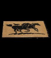 Hevoset-Ovimatto (ruskea kaksi hevosta)