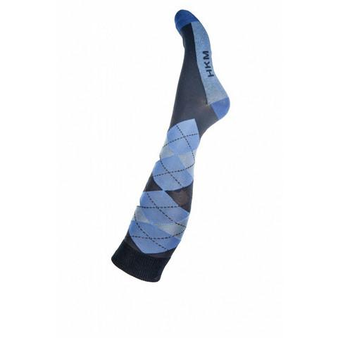 HKM Ratsastussukat  deep blue/middle blue 39-42