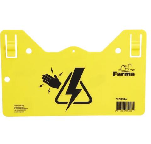 Sähköaidasta varoittava kyltti, Farma