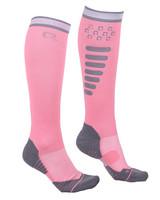 Ratsastussukat super grip Flamingo Pink 35-38
