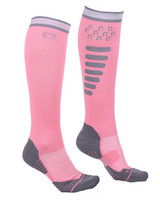 Ratsastussukat super grip Flamingo Pink 39-42