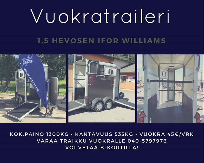 vuokratraileri ifor williams porvoo
