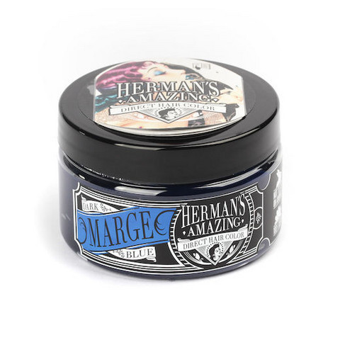 Herman's Amazing Direct Hair Color -shokkihiusväri/suoraväri Marge Blue - tummansininen 115ml