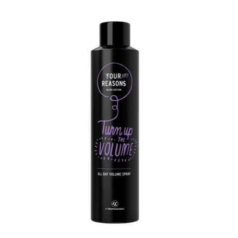 Four Reasons Black Edition All Day Volume Spray -muotoilu- ja viimeistelysuihke 300ml