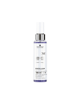 BC Excellium Q10+pearl Silverwhite Beautifying Silver Spray -hoitosuihke, hopeanvärinen 100ml