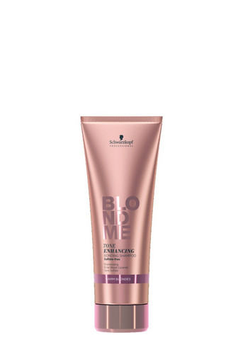 BlondMe Tone Enhancing Bonding Shampoo Warm Blondes -lämpimille vaaleille 250ml