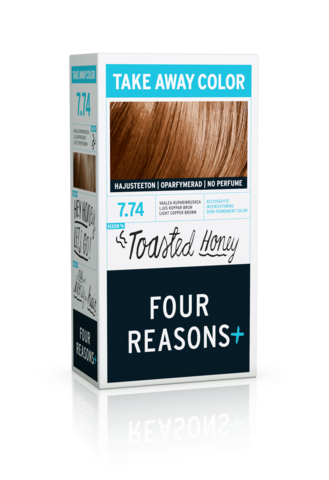 Four Reasons Take Away Color -kevytväri 7.74 Toasted Honey - vaalea kuparinruskea