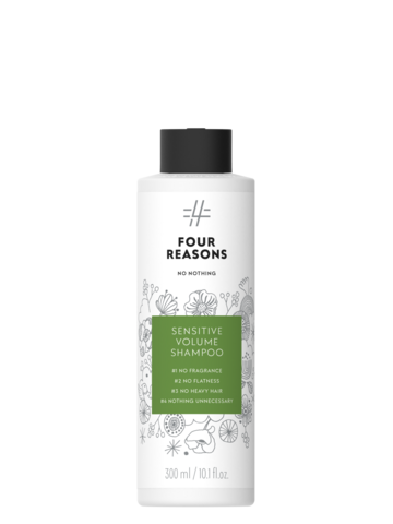 Four Reasons No Nothing Sensitive Volume Shampoo -tuuheuttava hajusteeton shampoo 300ml