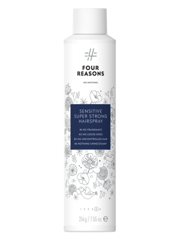 Four Reasons No Nothing Sensitive Super Strong Hairspray -erittäin voimakas hajusteeton hiuskiinne 300ml