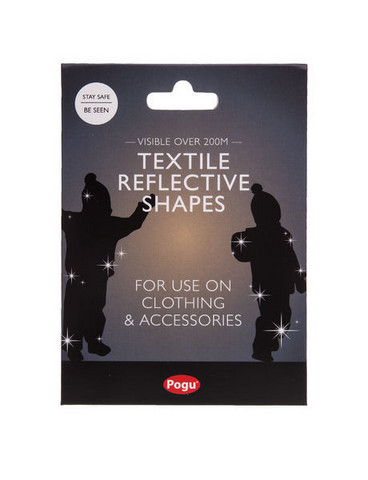 Heijastavat tarrat tekstiileihin, heijastin, hopea, Pogu