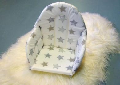 Istuinpehmuste syöttötuoliin, iso tähti/valkoinen