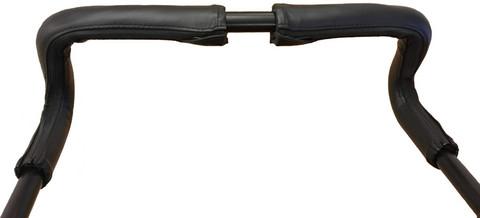 Britax Go Big -sarjan työntöaisan nahkapäälliset, musta, handlebar cover