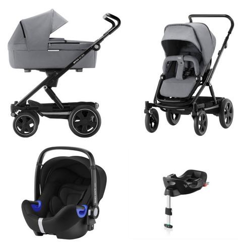 Britax Go Big 2 -yhdistelmät sekä Baby-Safe i-Size + Flex- jalusta + suojat