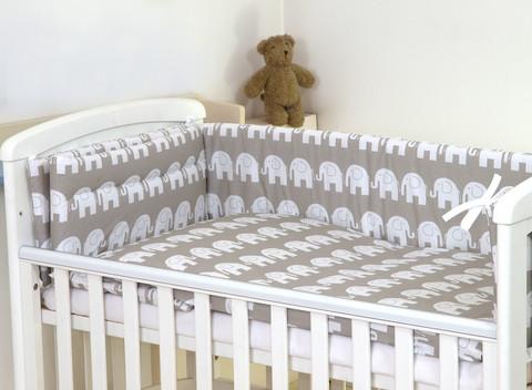 Reunapehmuste, pussilakana ja tyynynliina, Eimi, harmaa elefantti - 360cm