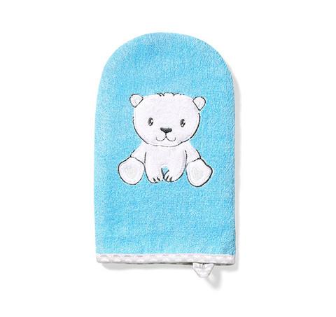 Pesukinnas, bambu, sininen - jääkarhu