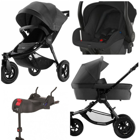 Britax B-Motion 3 Plus - Travel System / vaunupaketti, kaikki värit