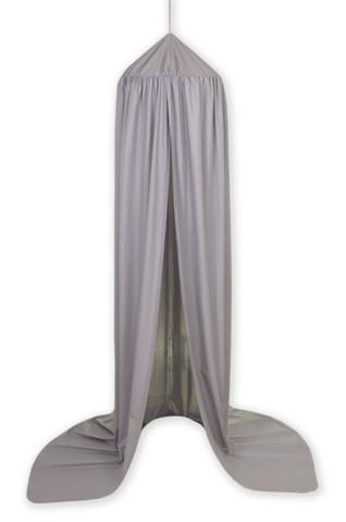 Pinnasängyn / kehdon iso katosverho / teltta, Harmaa -  (Pure Grey)