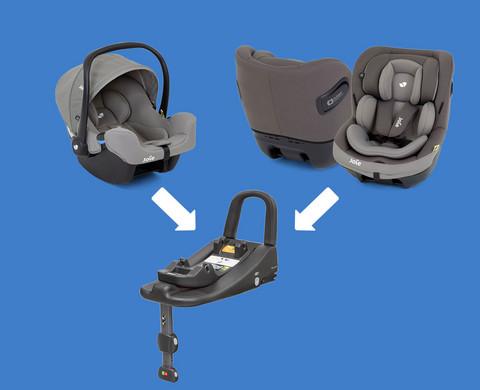 Vauvasta taaperoon -setti: Joie i-Snug + i-Venture, 0-18kg