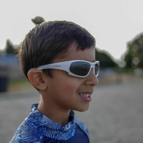 Aurinkolasit, Stonz Sunnies - Kid Sport - 2-6 v -valkoinen