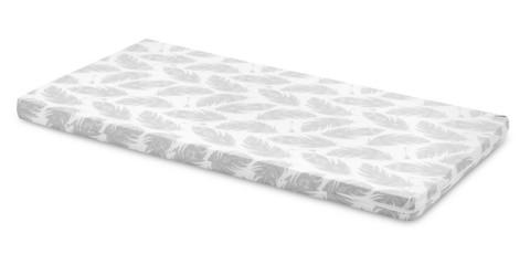 Pinnasängyn patja, vaahtomuovi, 120 x 60 x 6cm, Grey Feathers