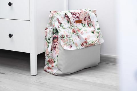 Hoitolaukku, MAMA, harmaa/Rose Garden